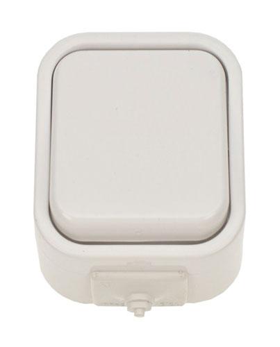 Vypínač do vlhka jednopólový bílý 5D01