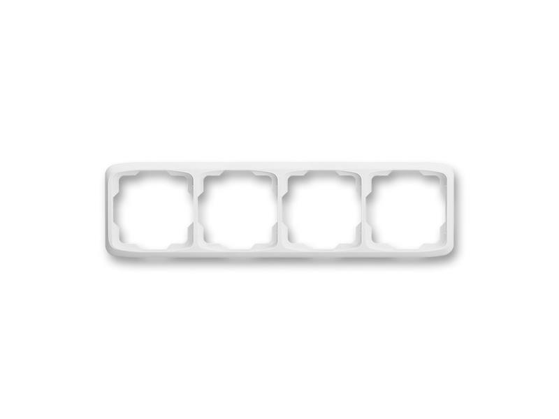 Rámeček ABB TANGO 3901A-B40 B čtyřnásobný WHITE