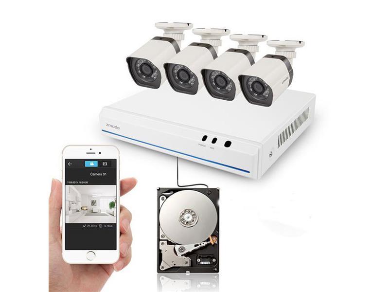 Kamera set ZMODO 720P sPoE 8CH NVR + 4x IP CAM + 1TB HDD digitální UMNP10067