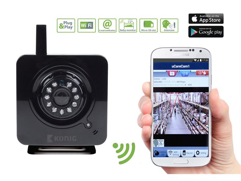 Kamera WiFi KÖNIG SAS-IPCAM100B vnitřní
