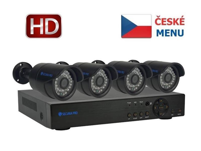 Kamera set SECURIA PRO NVR4CHV2 1080P 4CH DVR + 4x IR CAM digitální