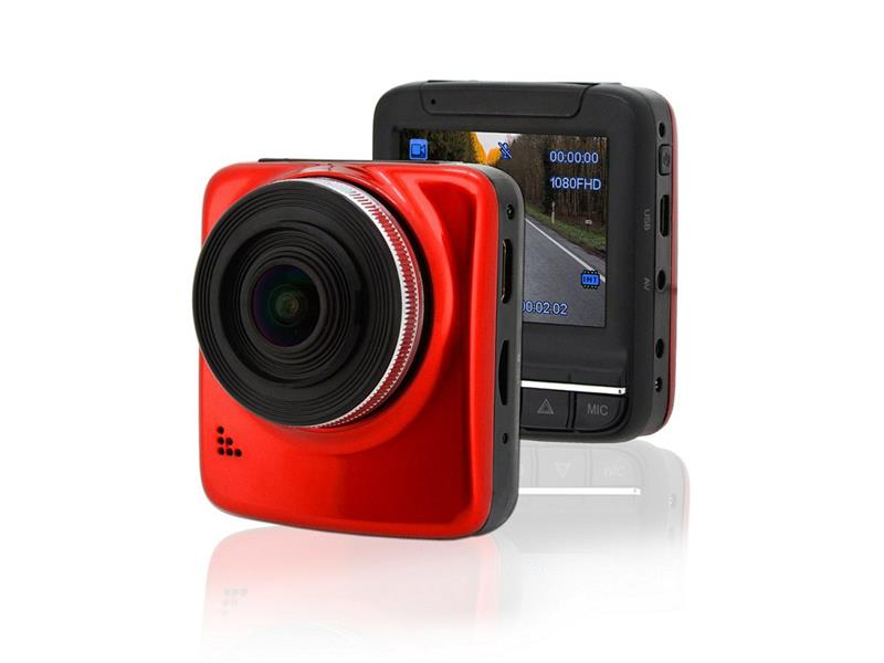 "Kamera do auta Full HD 2,4"" červená GPS"
