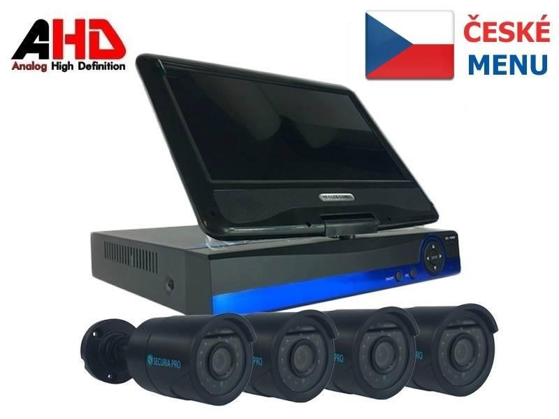 Kamera set SECURIA PRO LCD-AHD4CHV1 720P 4CH DVR + 4x IR CAM analog