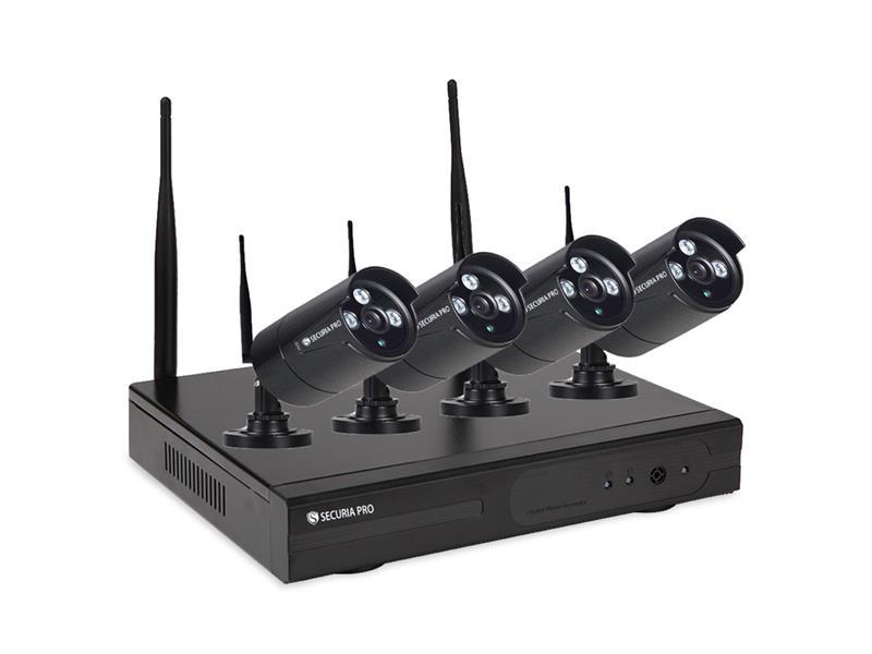 Kamerový systém SECURIA PRO WIFI4CHV2-B 1080P 4CH DVR + 4x IR CAM 2MP 1080P bezdrátový