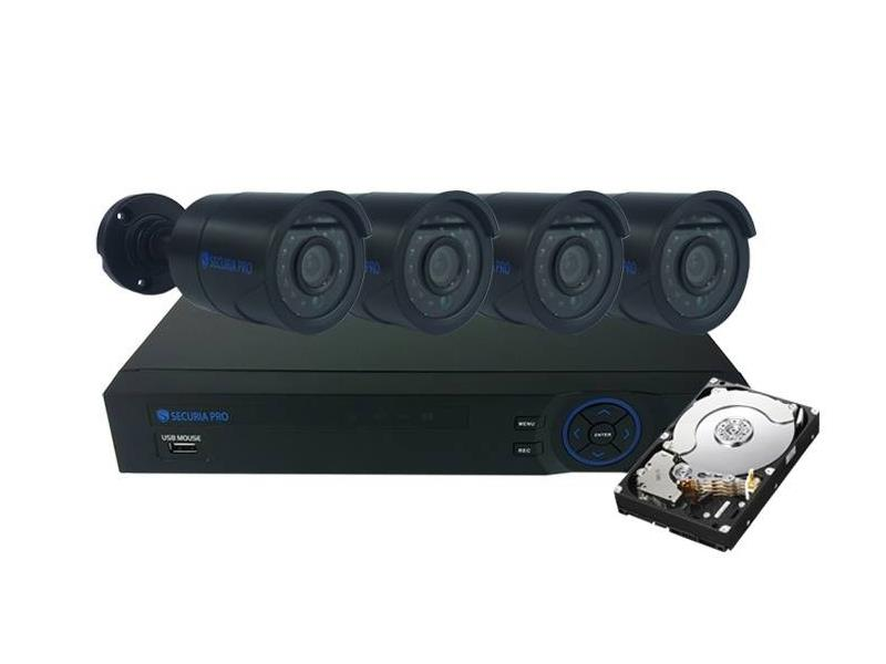 Kamera set SECURIA PRO AHD4CHV1/1TB 720P 4CH DVR + 4x IR CAM + 1TB HDD analog