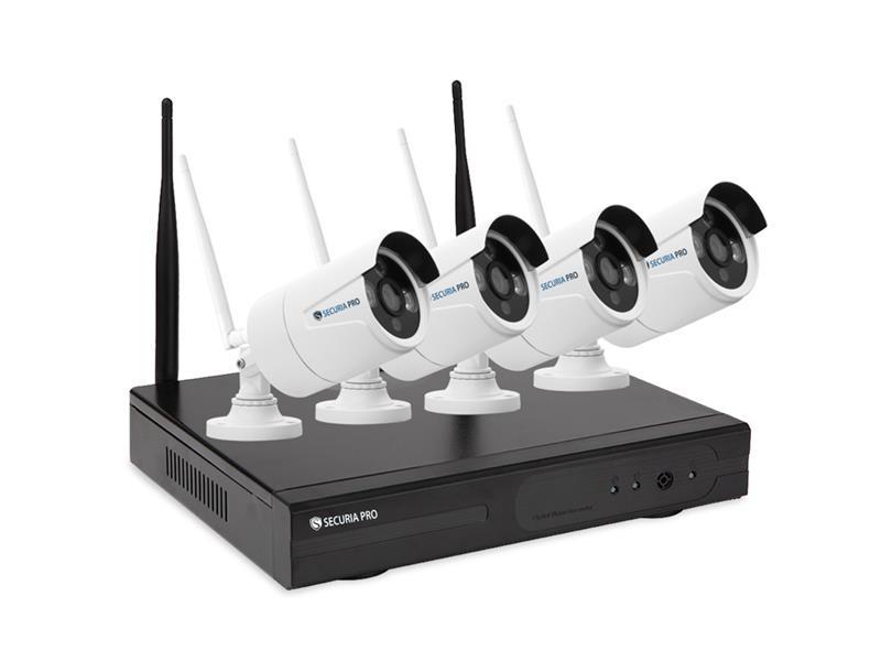 Kamerový systém SECURIA PRO WIFI4CHV2-W 1080P 4CH DVR + 4x IR CAM 2MP 1080P bezdrátový