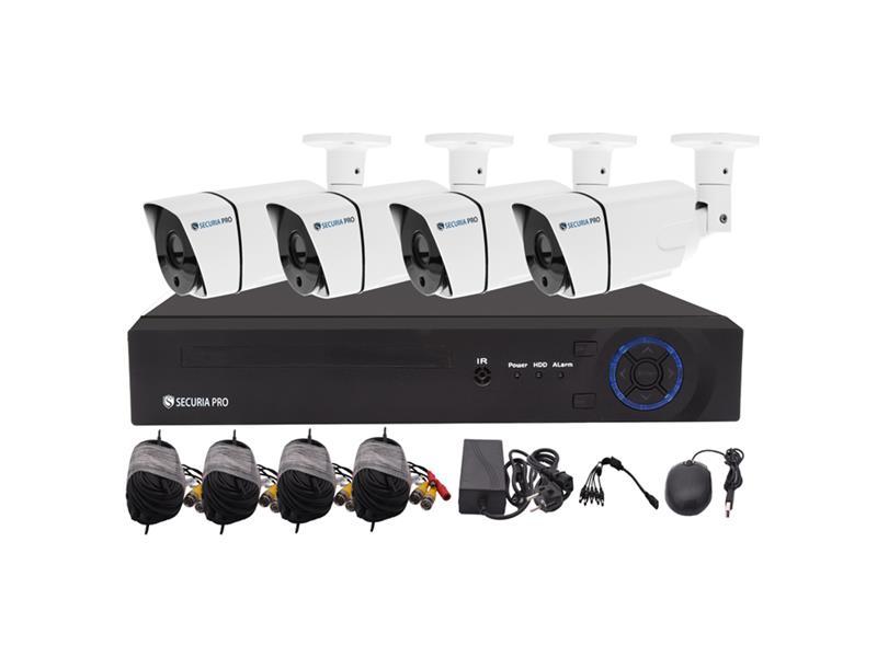 Kamerový systém SECURIA PRO AHD4CHV1-W 720P 4CH DVR + 4x IR CAM 1MP 720P analog