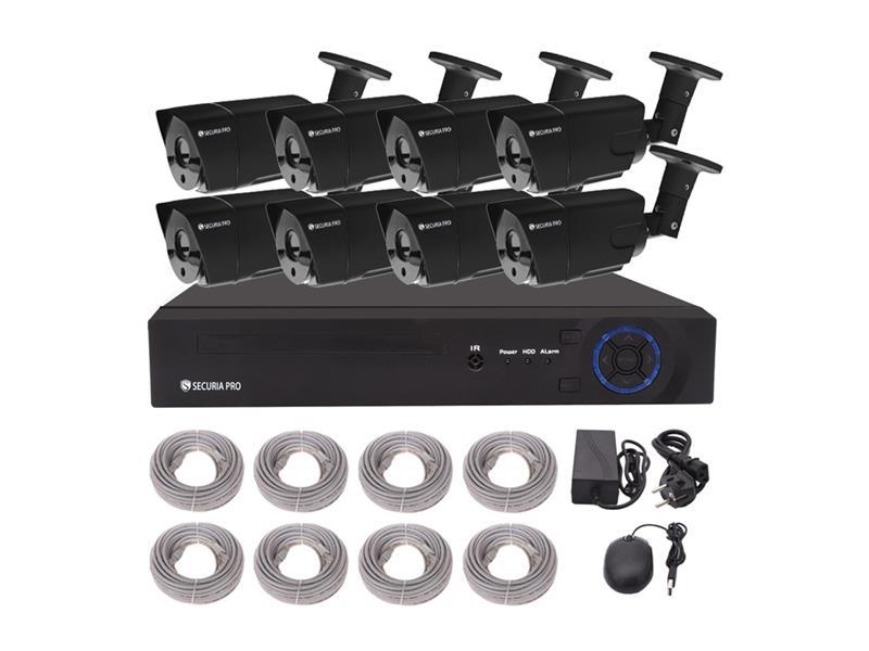 Kamerový systém SECURIA PRO NVR8CHV2-B