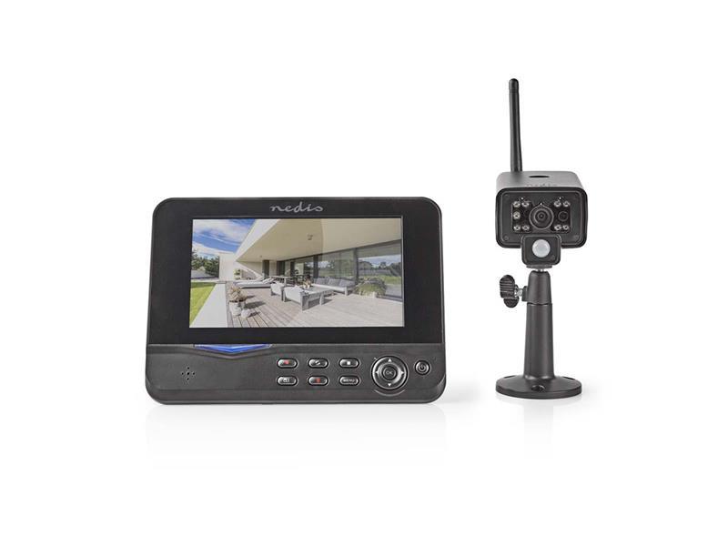Kamerový systém NEDIS CSWL120CBK 480P 4CH NVR + 1x IP CAM digitální
