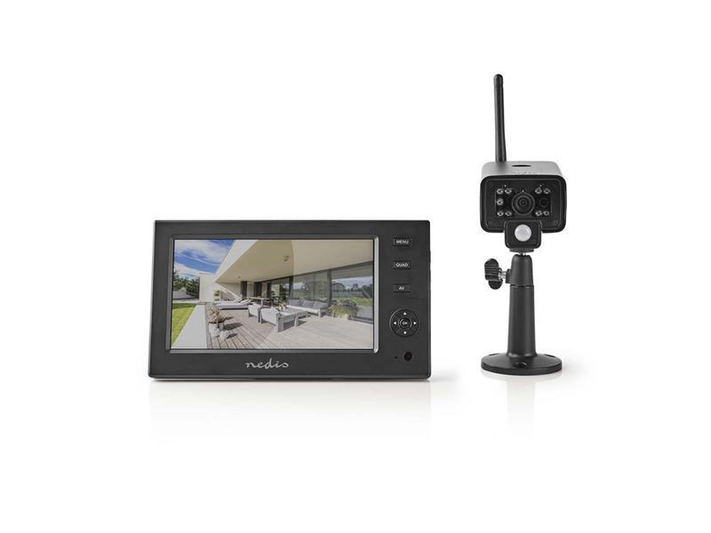 Kamerový systém NEDIS CSWL140CBK 480P 4CH NVR + 1x IP CAM digitální