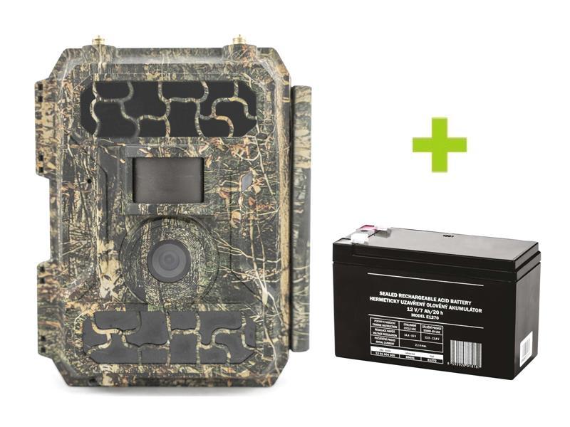 Fotopast OXE Panther 4G + externí akumulátor 12V/2,2Ah a napájecí kabel