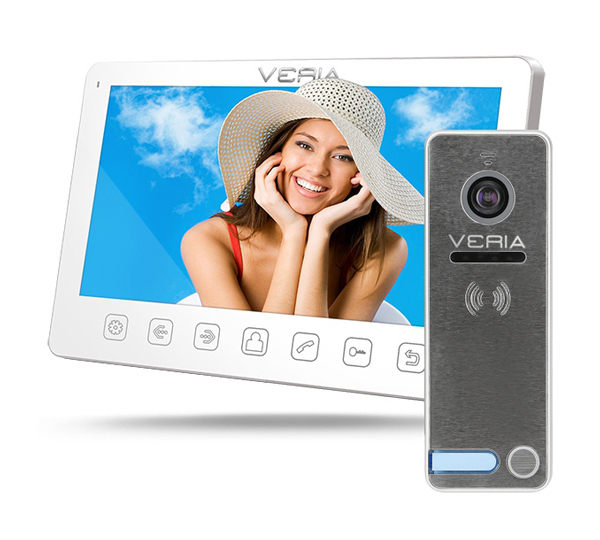 Videotelefon VERIA 7070B bílý + VERIA 230