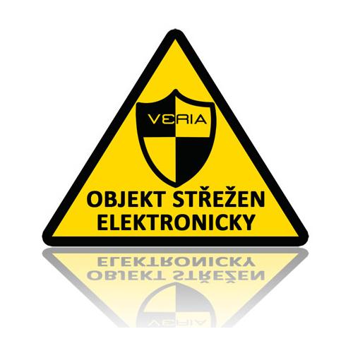 Samolepka - Objekt střežen elektronicky