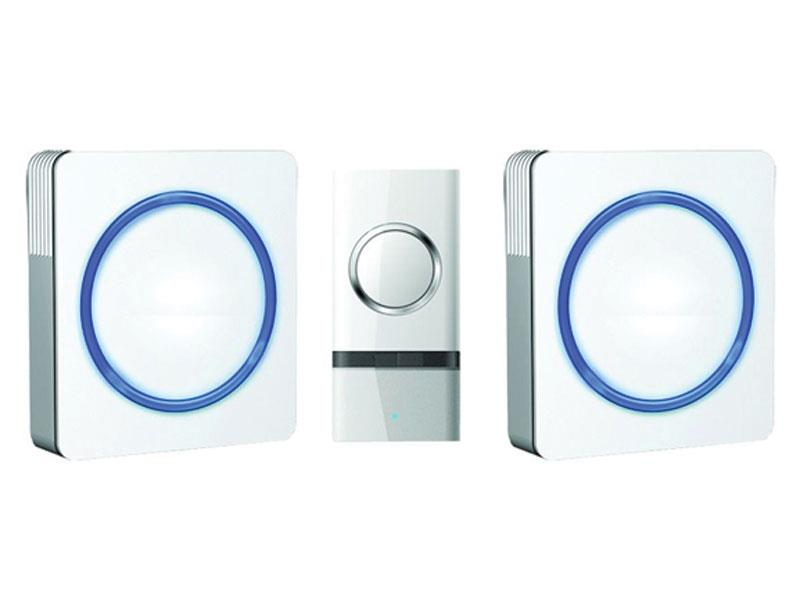 Solight 2x bezdrátový zvonek, do zásuvky, 120m, bílý 1L23