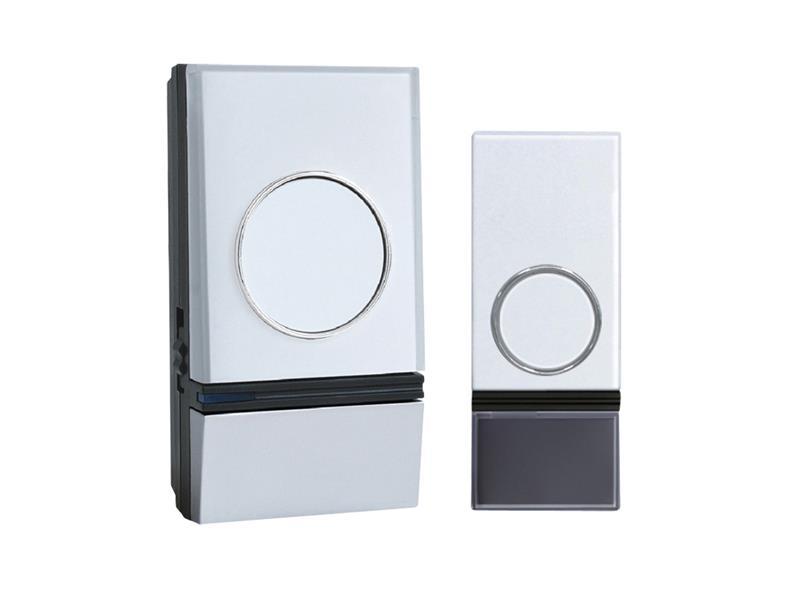 Solight bezdrátový zvonek 200m, plug-in, bílý, learning code, vodě odolný, 1L28
