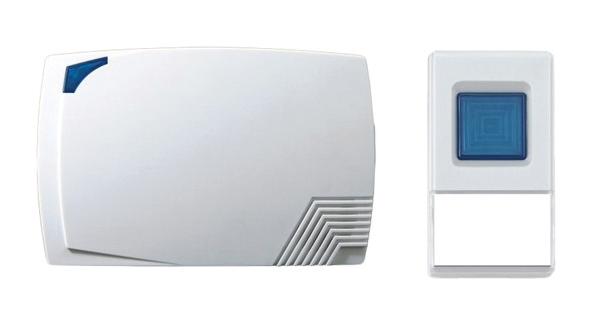 Solight bezdrátový zvonek, bateriový, 80m, bílý; 1L08
