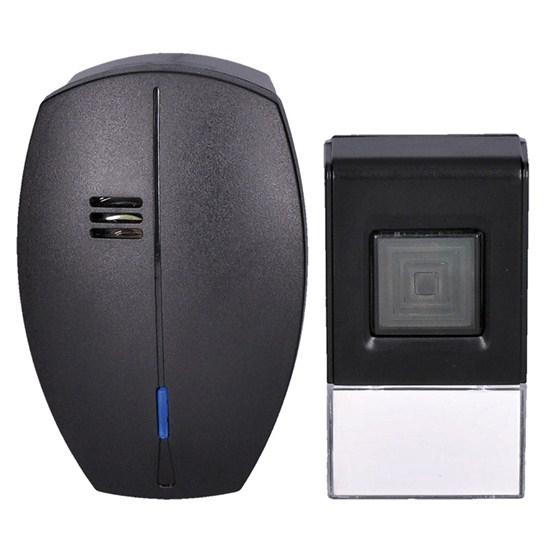 Zvonek domovní bezdrátový 1L56B do zásuvky, 120m, černý
