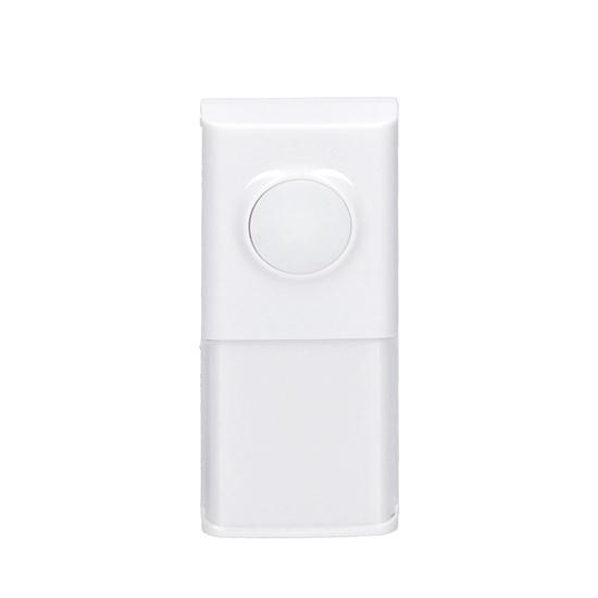 Tlačítko zvonkové bezdrátové  pro 1L54, 1L54DZ, 1L55, 120m, bílé, learning code, kryt na jmenovku