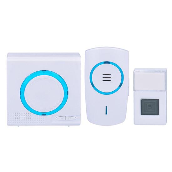 Zvonek domovní bezdrátový 1L65 1x do zásuvky + 1x bateriový, 120m, bílý, learning code
