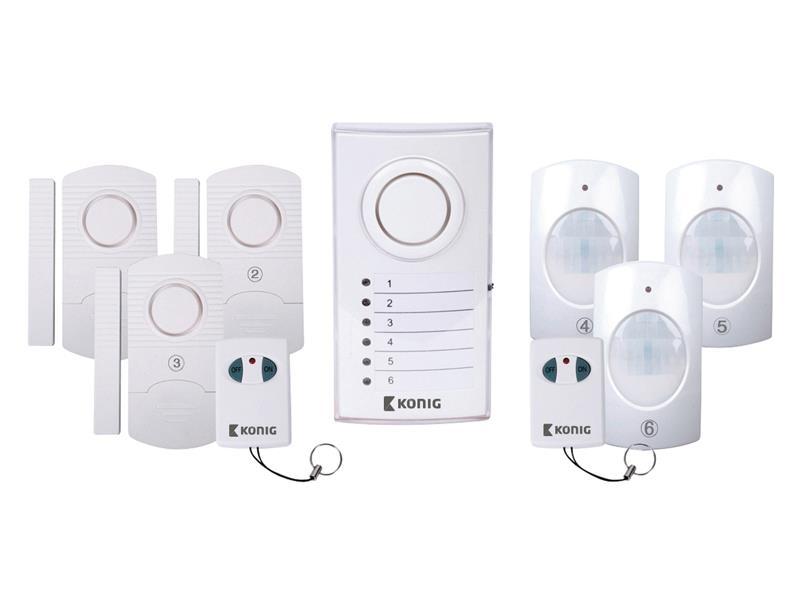 Bezdrátový zabezpečovací systém, 3x PIR, 3x dveřní/okenní čidlo SAS-ALARM120