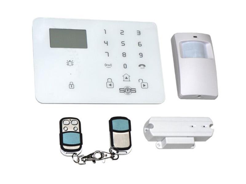 Bezdrátový domovní GSM alarm s GSM telefonem a SOS voláním Hutermann Guard HG-209-CZ