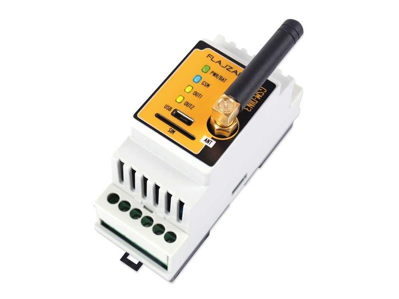 FLAJZAR Dálkové ovládání GSM na DIN lištu - GSM-DIN3