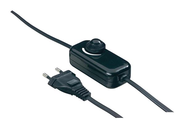 Kabelový stmívač otočný, 230 VAC, 40 - 200 W, černý