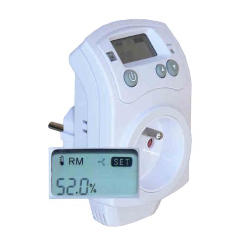Hygrostat (vlhkoměr) HH-810 zásuvkový pro ovládání odvlhčovačů nebo zvlhčovačů