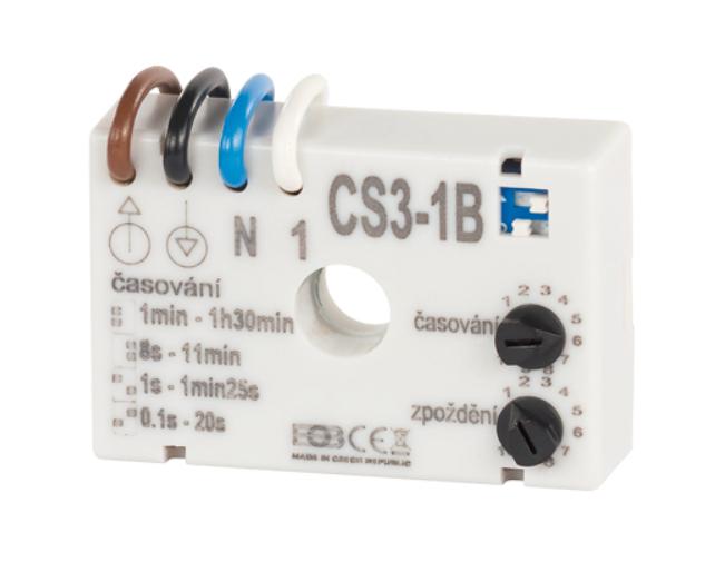 Časový spínač ELEKTROBOCK CS3-1B pro ventilátory se zpožděním