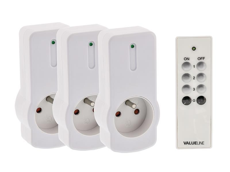 Zásuvky dálkově ovládané VALUELINE VLWSOCKET03F