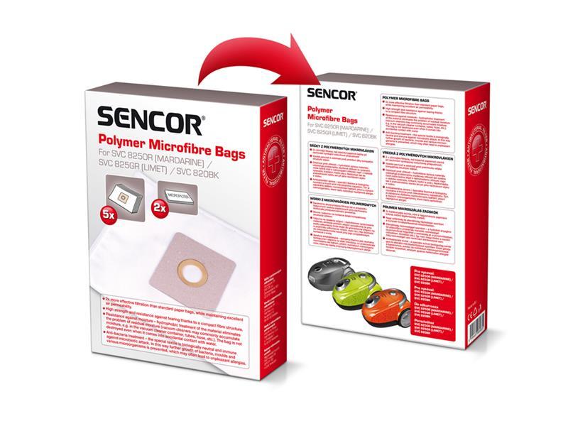 Sáčky do vysavače SENCOR SVC 820BK/825GR Micro