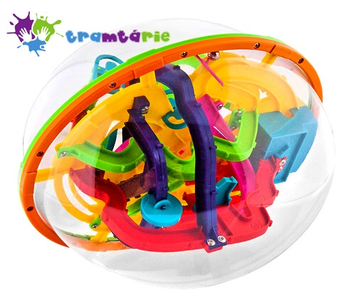 Hlavolam 3D Tramtárie 23cm (bludiště Intellect Ball) 208