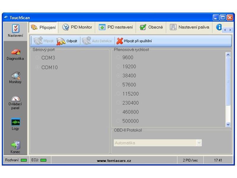 Autodiagnostika TouchScan v češtině na CD - ELM 327 - DIAG