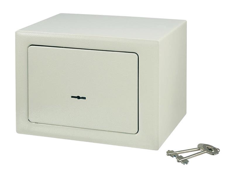 Kompaktní trezor, 230 x 170 x 170 mm, béžová