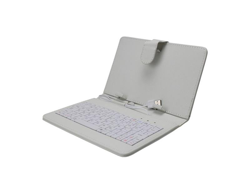 "Pouzdro na tablet 7"" s klávesnicí s micro/mini USB, bílé"