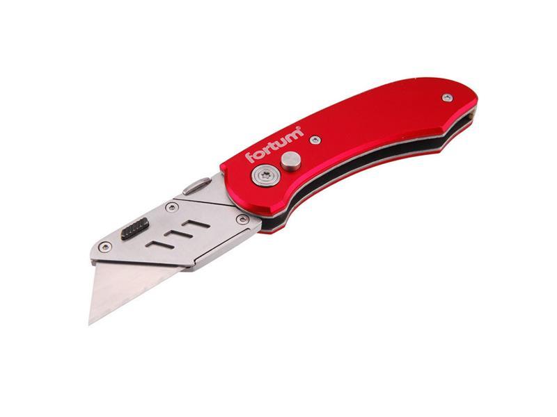 nůž zavírací s výměnným břitem, 18mm, 5ks náhradních břitů, EXTOL PREMIUM
