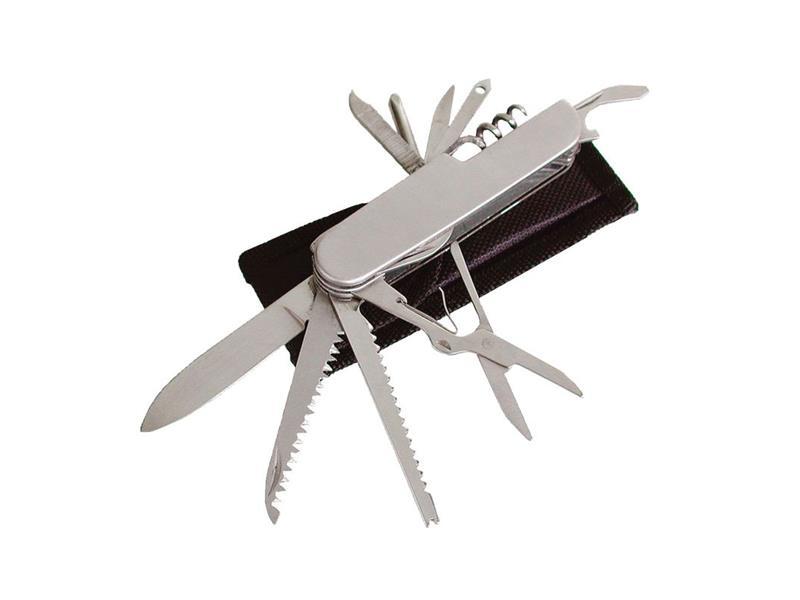 Nůž zavírací 11dílný s pouzdrem, NEREZ, EXTOL CRAFT