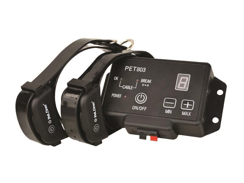 Elektronický ohradník pro psa neviditelný plot pro psy Petrainer PET803-2 (dva obojky)