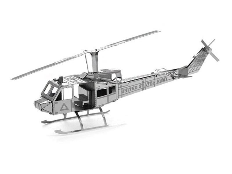 3D kovové puzzle METAL EARTH Vrtulník Bell UH-1 Huey