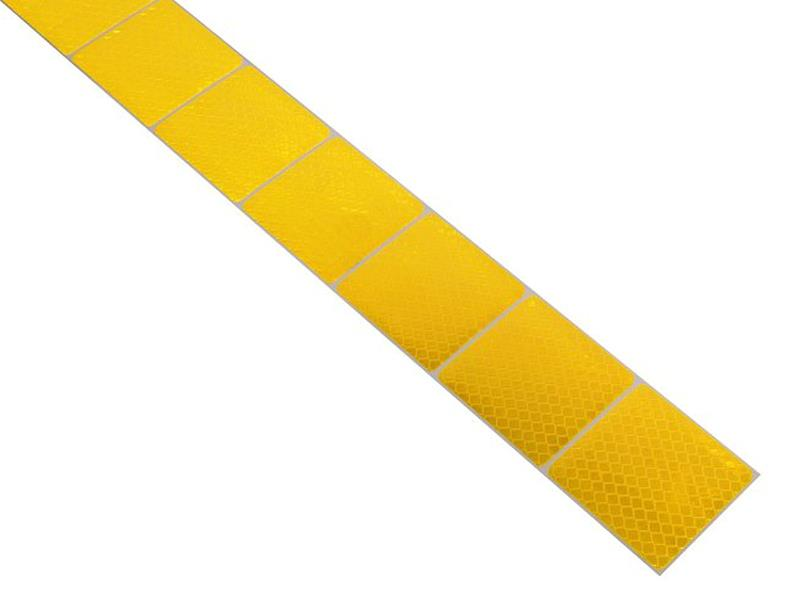 Reflexní páska samolepící dělená 1m x 5cm žlutá COMPASS 01544