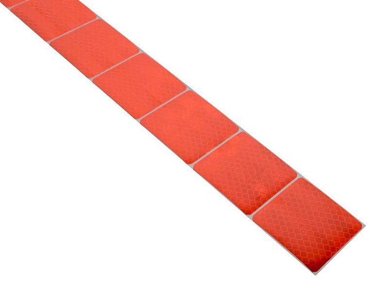 Compass Samolepící páska reflexní dělená 1m x 5cm červená 01546
