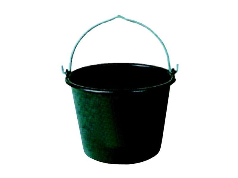 Zednické vědro černé plastové 12 L