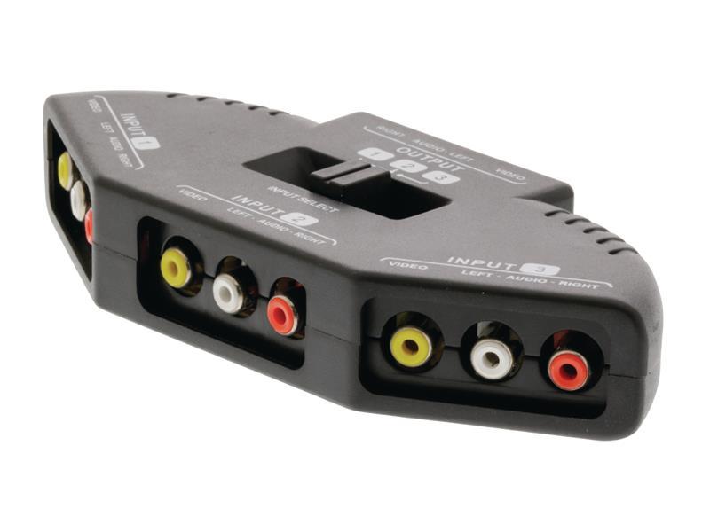Přepínač 3x AV - 1x AV VALUELINE VLVSW2403