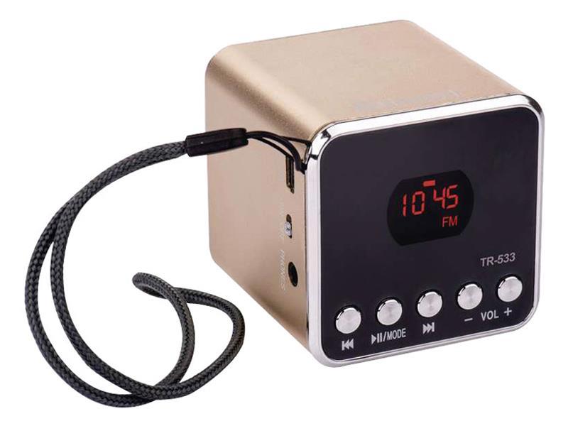 USB soundbox EMGO TR533G, zlatá