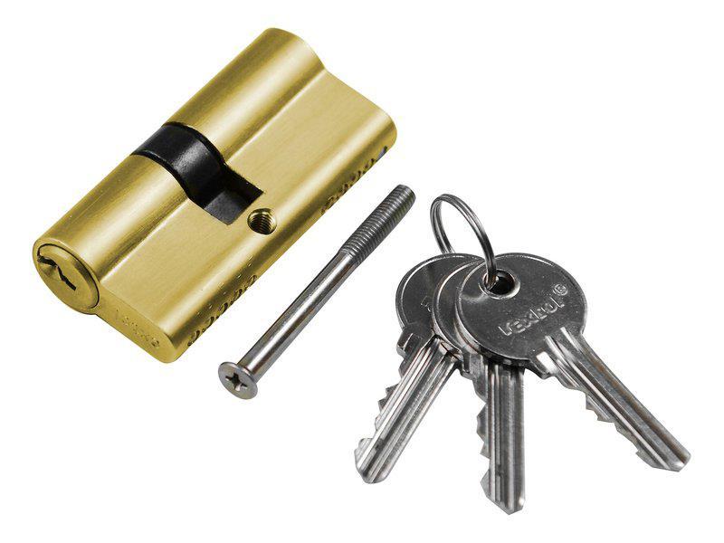 Vložka cylindrická, 65mm (30+35mm), 3 klíče, EXTOL CRAFT