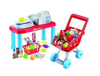 Pokladna G21 s nákupním vozíkem a příslušenstvím