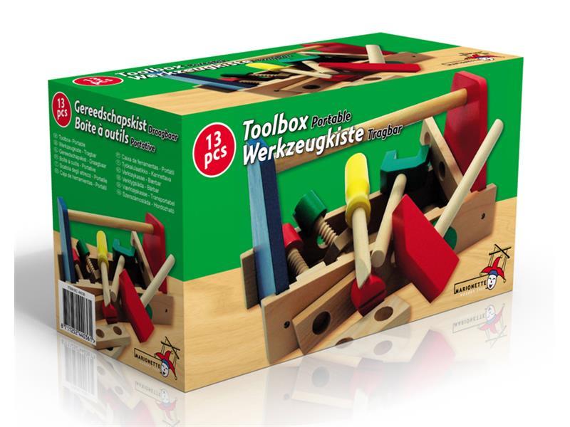 Dřevěný box s nářadím