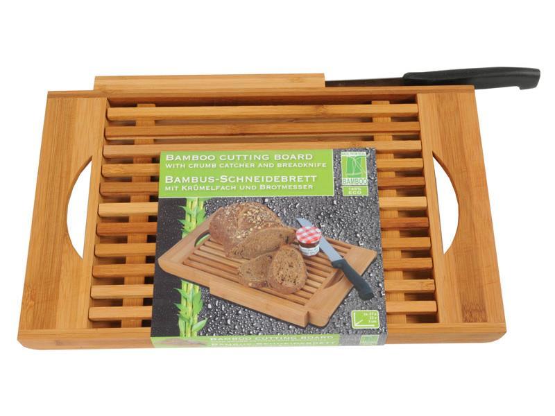 Prkénko bambusové na chleba + nůž