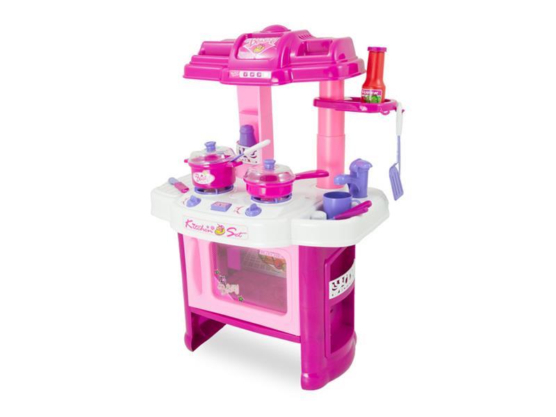 Dětská kuchyňka G21 DELICACY s příslušenstvím PINK