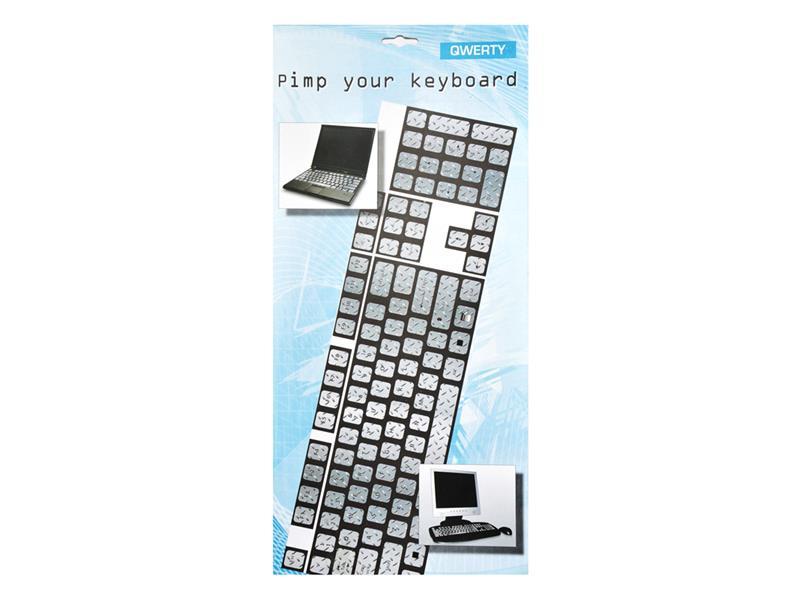 Nálepky na klávesnici Plech